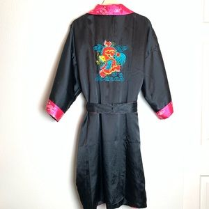 Embroidered Dragon Reversible Robe